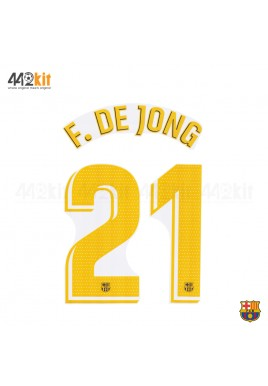 OFFICIAL PLAYER ISSUE F.DE JONG #21 FC Barcelona Home 2019-20 PRINT