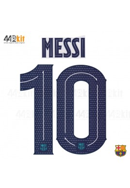 OFFICIAL PLAYER ISSUE MESSI #10 FC Barcelona 3rd UCL 2019-20 PRINT