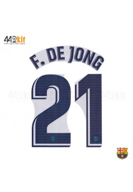 OFFICIAL PLAYER ISSUE F. DE JONG #21 FC Barcelona 3rd 2019-20 PRINT