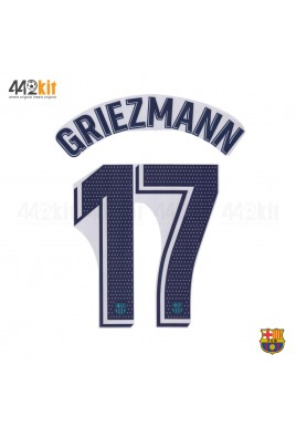 OFFICIAL PLAYER ISSUE GRIEZMANN #17 FC Barcelona 3rd 2019-20 PRINT