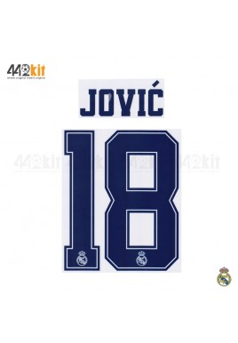 Official JOVIC' #18 Real Madrid CF 3rd 2019-20 PRINT