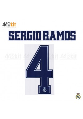 Official SERGIO RAMOS #4 Real Madrid CF 3rd 2019-20 PRINT