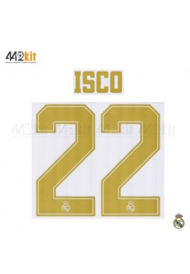 Official ISCO #22 Real Madrid CF Home Away 2019-20 PRINT