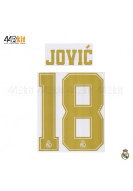 Official JOVIC' #18 Real Madrid CF Home Away 2019-20 PRINT