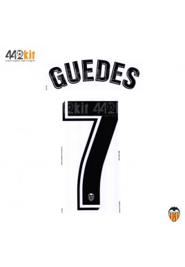 Official GUEDES #7 Valencia CF Home 2019-2020 PRINT