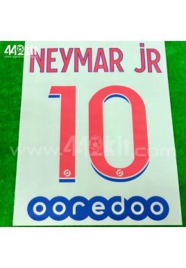 Official NEYMAR JR #10 + OOREDOO PSG Away Ligue 1 2020-21 PRINT