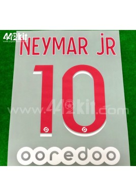 Official NEYMAR JR #10 + OOREDOO PSG Home Ligue 1 2020-21 PRINT