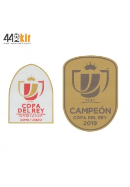 OFFICIAL COPA DEL REY 2019-20 + CAMPEON 2019 GOLD Patch (FOR VALENCIA CF)