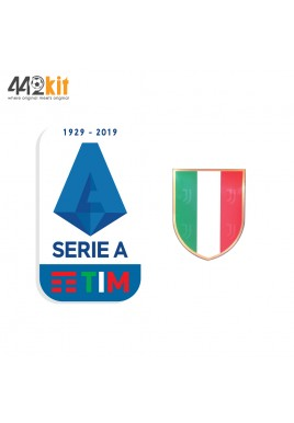 Official JUVENTUS SERIE A TIM + SCUDETO 2019-2020 Player Size Patches