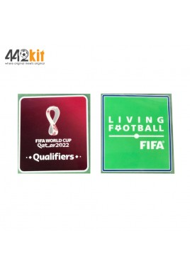Official PLAYER ISSUE FIFA QATAR World Cup 2022 Qualifiers + LIVING FOOTBALL PATCHES