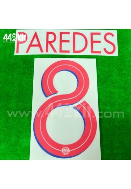 Official PAREDES #8 PSG Away UCL 2020-21 PRINT