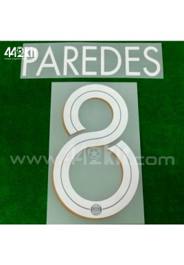 Official PAREDES #8 PSG 3rd UCL 2020-21 PRINT