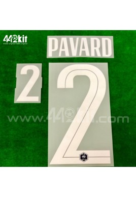 Official PAVARD #2 France FFF Home 2020-21 PRINT