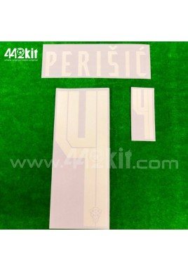 Official PERISIC #4 CROATIA HNS Away 2020-21 PRINT