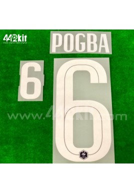 Official POGBA #6 France FFF Home 2020-21 PRINT