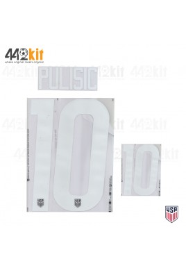 OFFICIAL PULISIC #10 USA AWAY 2020-21 PU PRINT