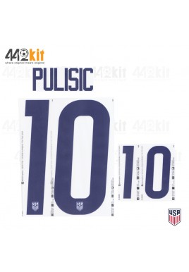 OFFICIAL PULISIC #10 USA HOME 2020-21 PU PRINT