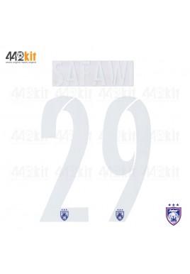 OFFICIAL SAFAWI #29 JOHOR DARUL TAKZIM FC HOME MSL 2020 PRINT