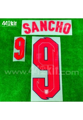 Official SANCHO #9 England Home 2020-21 PRINT