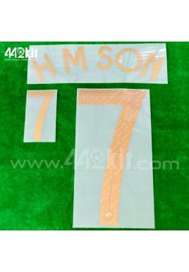 Official HM SON #7 South Korea Away 2020-21 PRINT