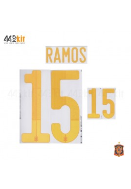 Official RAMOS #15 SPAIN Home EURO 2020 2020-21 PRINT