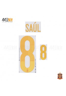 Official SAUL #8 SPAIN Home EURO 2020 2020-21 PRINT
