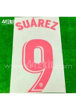 OFFICIAL SUAREZ #9 Atletico de Madrid Away LA LIGA 2020-21 PRINT