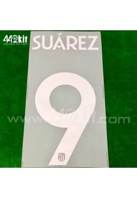 OFFICIAL SUAREZ #9 Atletico de Madrid Home UCL 2020-21 PRINT