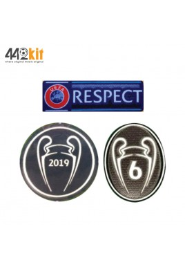 Official Liverpool FC UEFA UCL 2019-20 SENSCILIA Patches Set