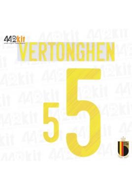 Official VERTONGHEN #5 Belgium RBFA HOME EURO 2020 2020-21 PRINT