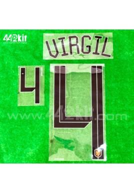 Official VIRGIL #4 NETHERLANDS KNVB Home 2020-21 PRINT