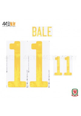 Official BALE #11 WALES Home EURO 2020 2010-21 PRINT
